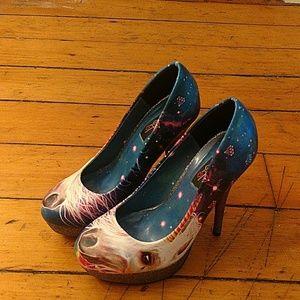 Iron fist sparkly unicorn heels